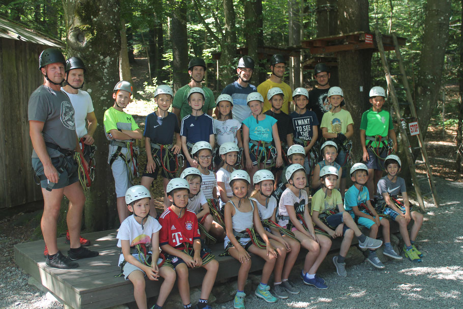 E-Jugend im Kletterpark Waldkirchen