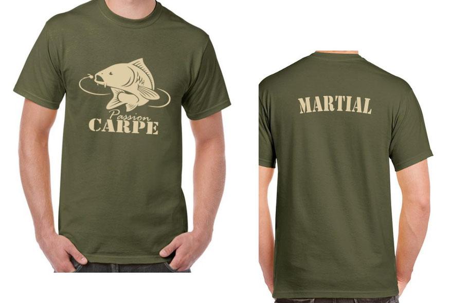 personnalisation tshirt pêche