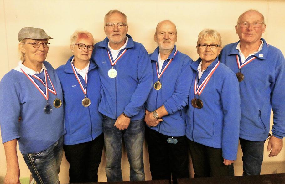 Sieger und Platzierte - Vereinsmeisterschaft Doublette 2019