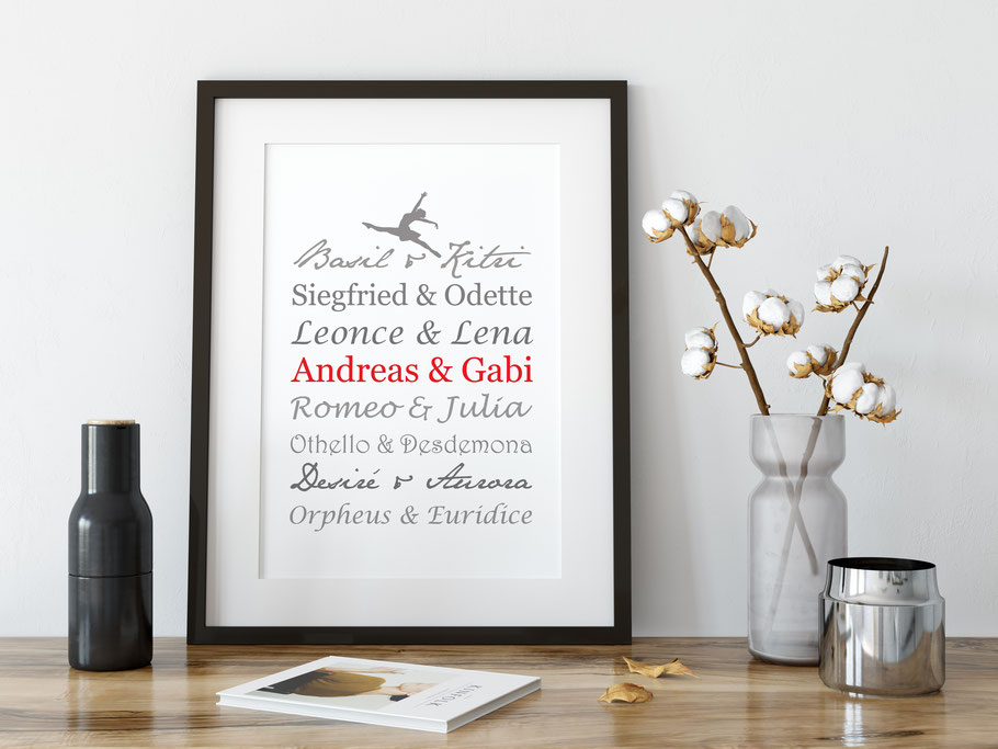 Kunstdruck Ballett Paare Wohnen & Leben Wohndekoration