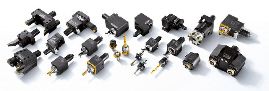 Sauter Feinmechanik, angetriebene werkzeuge, werkzeugmaschinen, präzisionswerkzeuge, Doublefix, Modifix. Speedfix, Excenter Werkzeu, Capto, Trifix