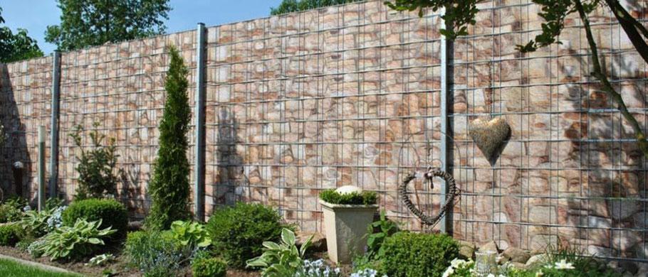 Zaun Sichtschutzstreifen Deco Line Stone Ihr Fachmarkt Fur Zaun