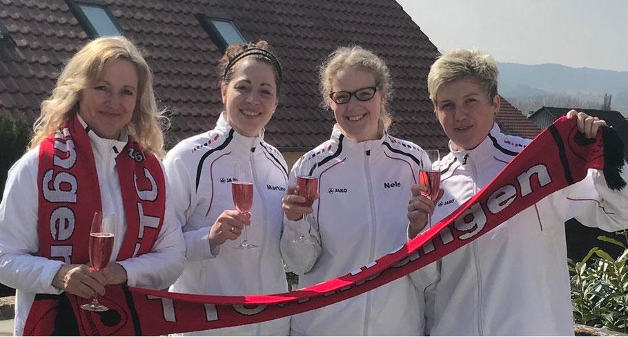 Haben den Titel am Sonntag perfekt gemacht: (von links) Christa Beck, Martina Krengel, Nele Freitag und Sarah Weise.