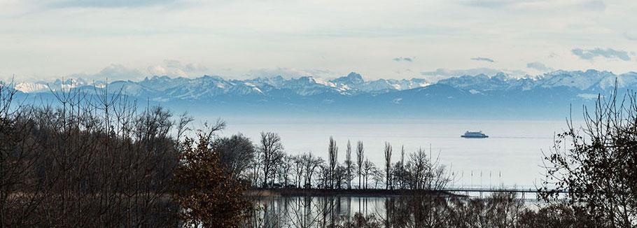 Ferienwohnung mit Seeblick nahe der Insel Mainau bei Konstanz am Bodensee