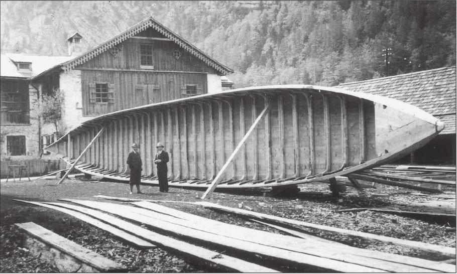 Bau einer Sechserin in Hallstatt (© Severin Schenner)