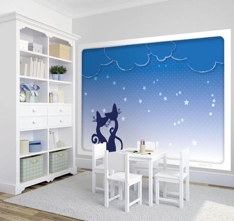 Wandbild twilight kindertapeten wandbilder for Kinderzimmer sterne