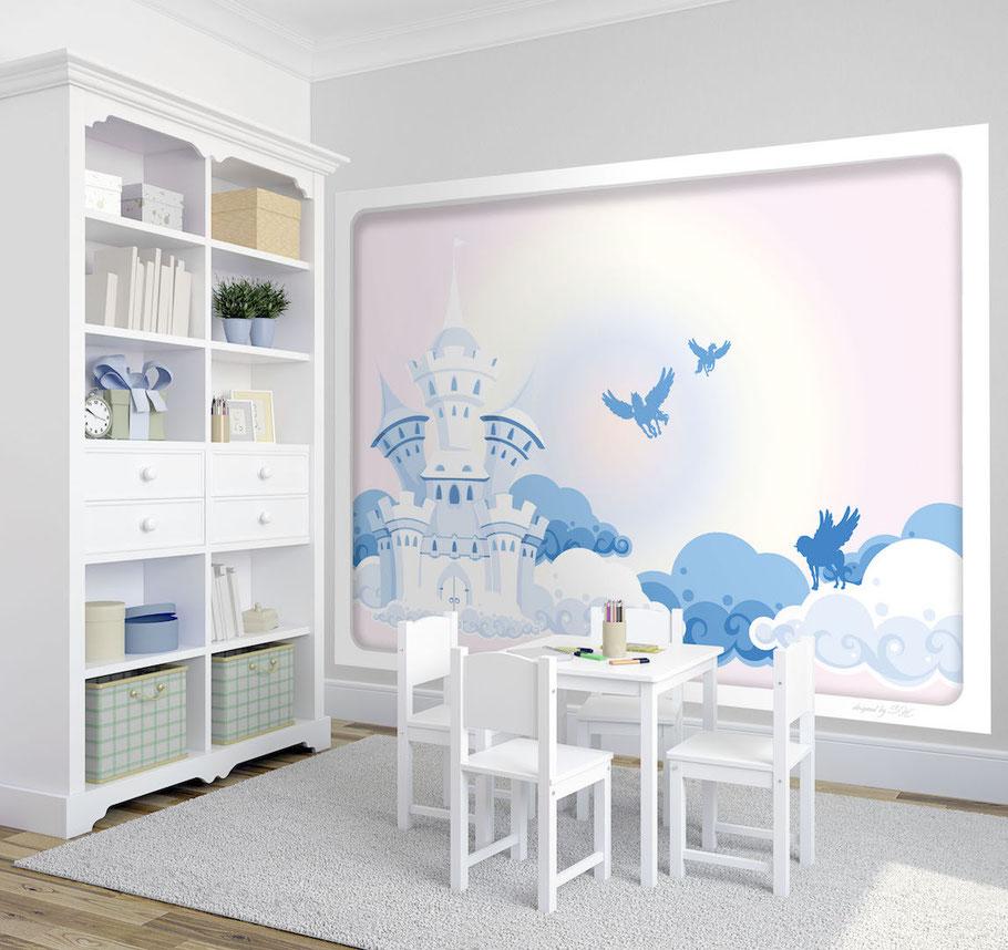 Wandbild daydream kindertapeten wandbilder - Pferde bordure kinderzimmer ...