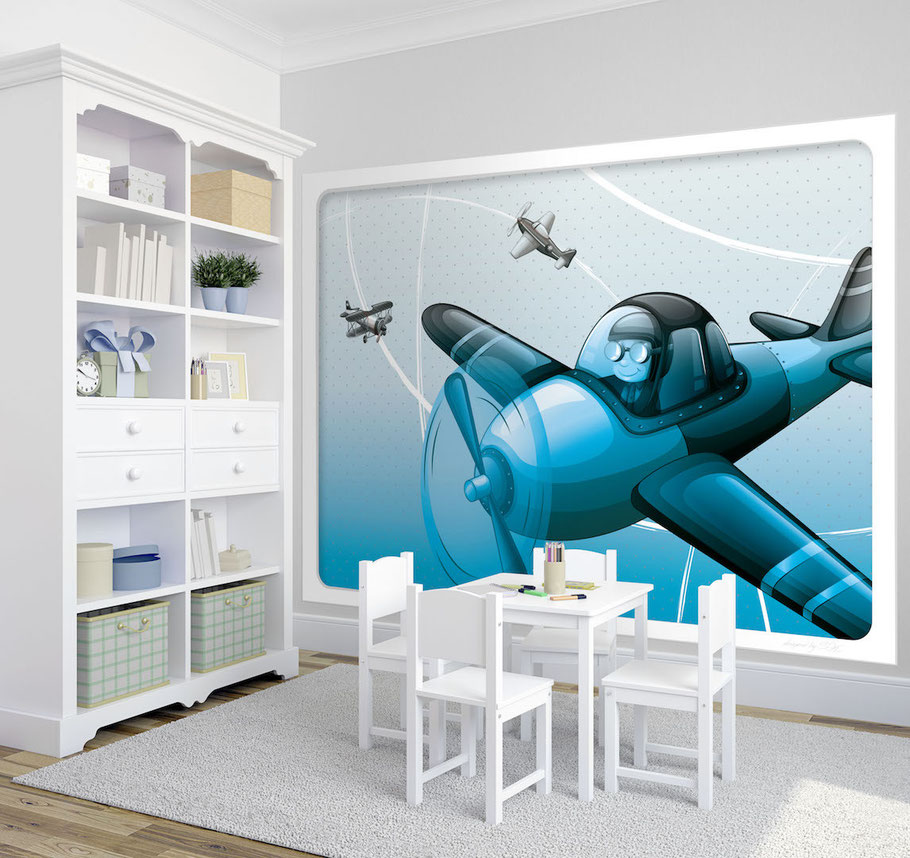 Wandbild Pilot - Kindertapeten & Wandbilder