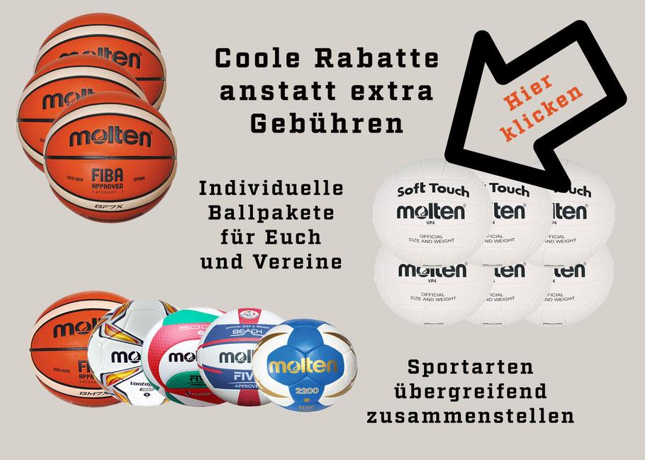 Ballpakete Basketball kaufen Ball Bälle GF7 GL7X Molten