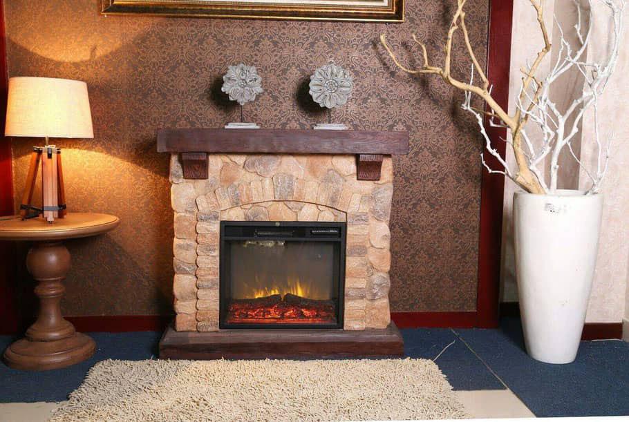 Stone Design Fireplace