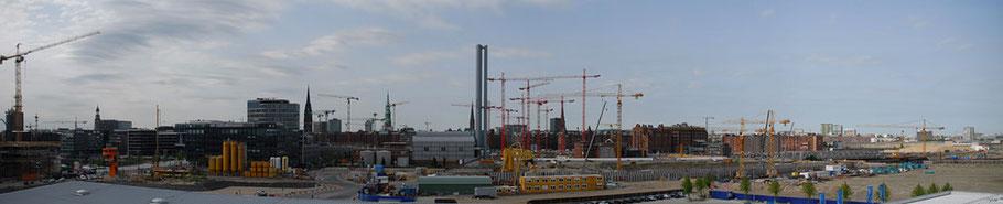Begrüßung durch den Hamburger Hafen
