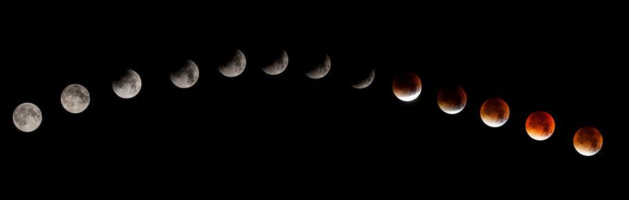 Meine Sicht auf die Mondfinsternis vom Balkon. Mitten aus dem Herzen Hamburgs. :)