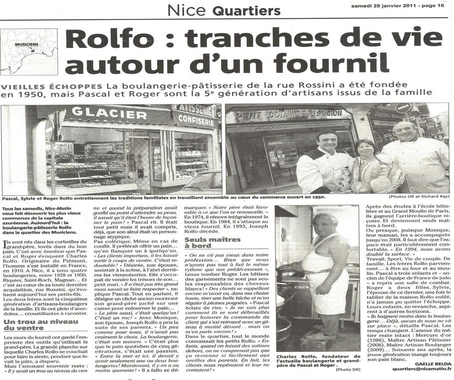 Boulangerie Rolfo nice; nice-matin