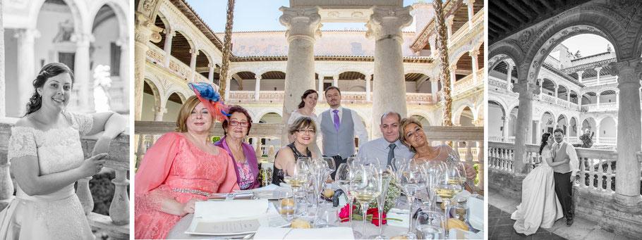 Fotógrafos para bodas en Madrid. Fotos del banquete