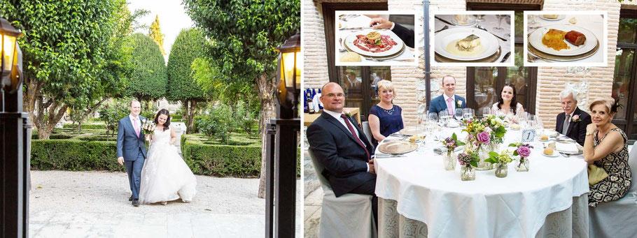 Fotógrafos de bodas en Madrid. Fotos del banquete de boda