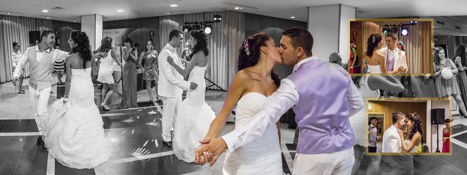 Fotógrafos de bodas profesionales en Madrid. Fotos del baile de boda
