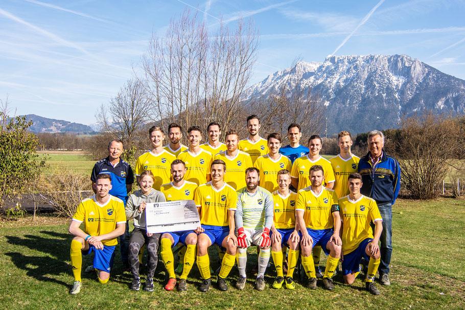 Erste Mannschaft des FV Oberaudorf 2019