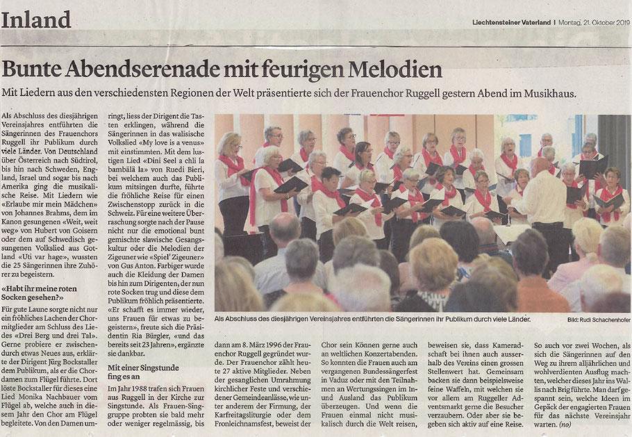 Liechtensteiner Vaterland, Montag, 21. Oktober 2019
