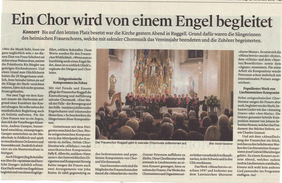 Liechtensteiner Vaterland, Montag, 12. November 2018