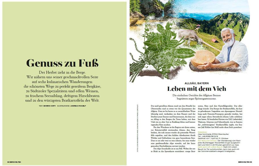 """Foto Buchenegger Wasserfälle für die Zeitschrift """"Bergwelten"""" Ausgabe November 2017"""