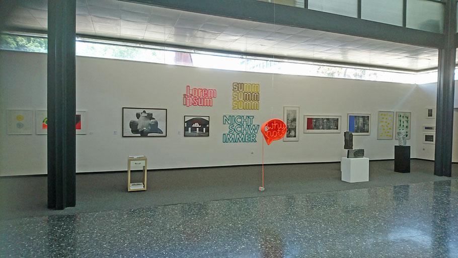 23. Galerientage im Mannheimer Kunstverein 2018, Abschnitt von Döbele Kunst Mannheim
