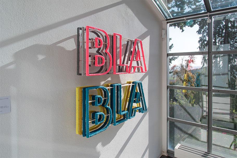 3. Roter Kunstsalon, Museum Villa Rot, Oktober 2018, Barbara Reck-Irmler: BLA BLA BLA Installation · 2018