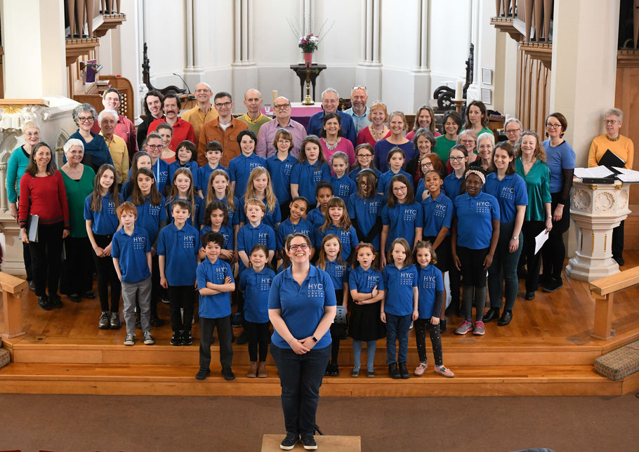 Highbury Youth Choirs alongside Eclectic Voices at Christ Church, Highbury, Spring 2019