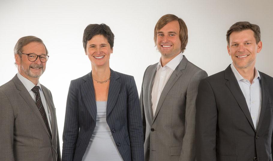 Rechtsanwälte Hans Stenz, Carolin Rogoz, Matthias Gerstner und Dr. Andreas Tiedtke