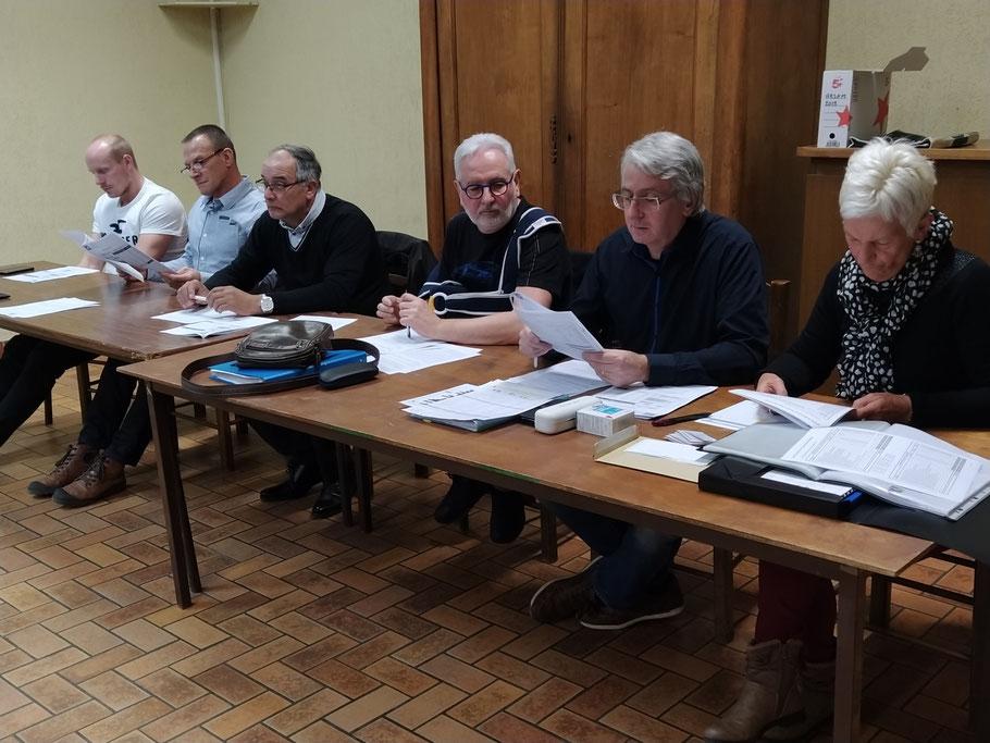 Le bureau lors de l' Assemblée Générale 2020, absent sur la photo Gérard le président( raison maladie)