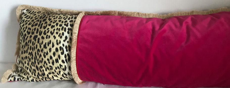 kissen langes Kissen schlafzimmer leopard
