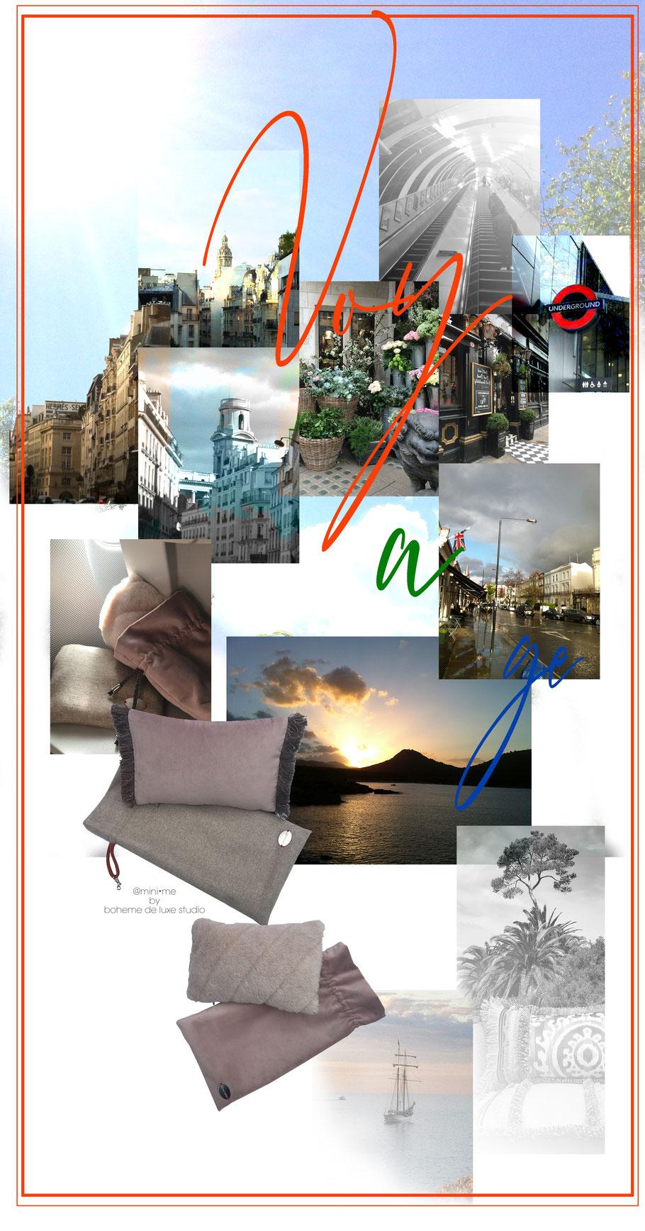 Kissen Reisekissen Reisen Boheme de luxe Studio Dekoration Travel  Reisen Urlaub Bequem reisen Mallorca Ostsse Sylt New York Kissen kaufen Shop