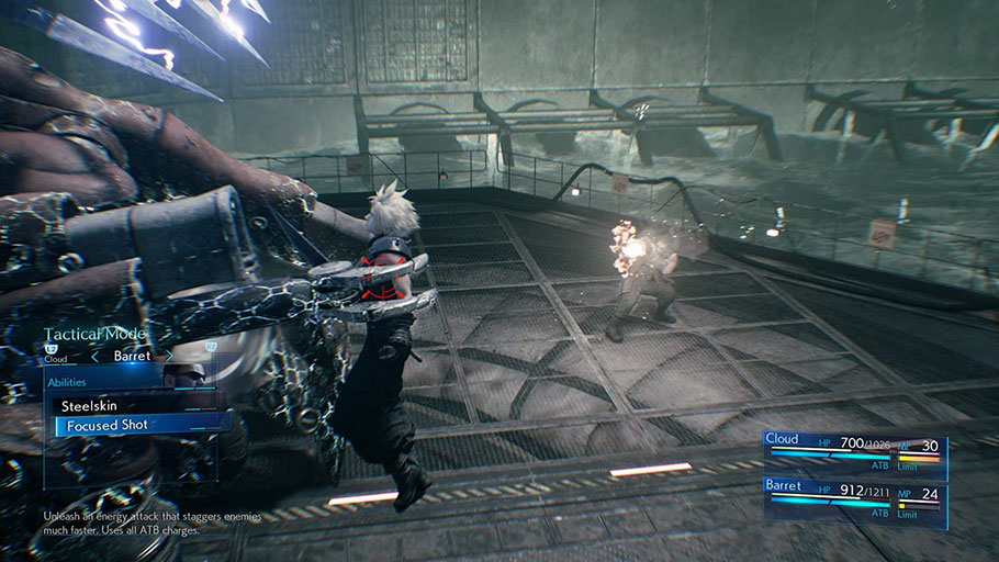 Final Fantasy 7 Remake Test: Gameplay