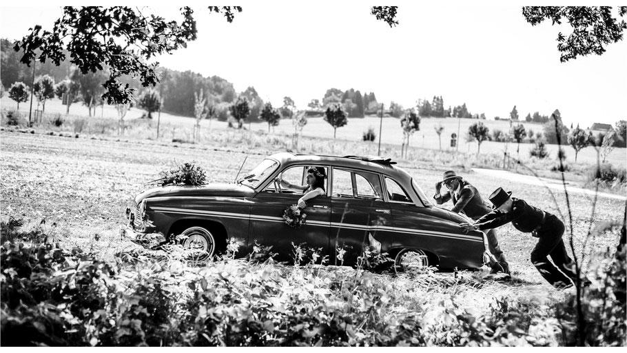 Hochzeitsreportage mit Anne und Bernhard in Dresden - von Dirk Brzoska begleitet als Hochzeitsfotograf