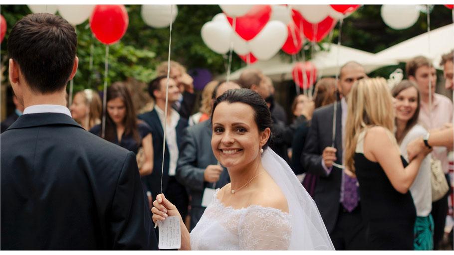 Hochzeitsreportage mit Anett und Oliver auf Schloss Scharfenberg bei Meissen - von Dirk Brzoska begleitet als Hochzeitsfotograf