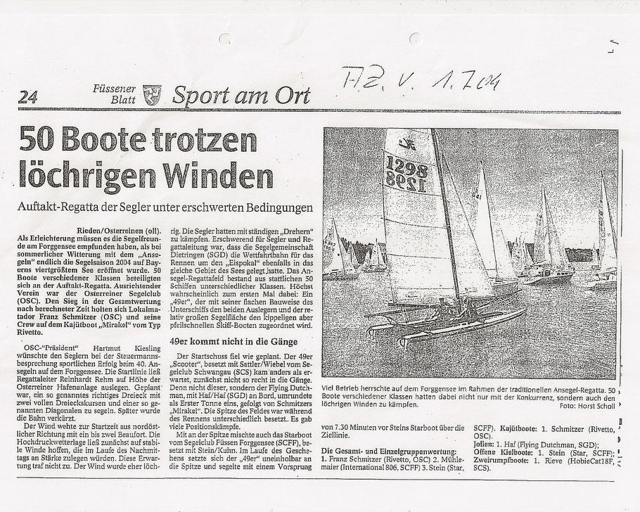 Allgäuer Zeitung vom 01.07.2004
