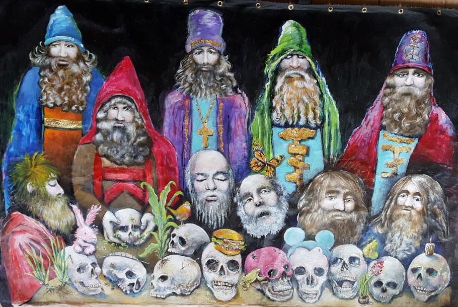 bernadette leclercq peinture tours expressionniste tête de mort vanité skull