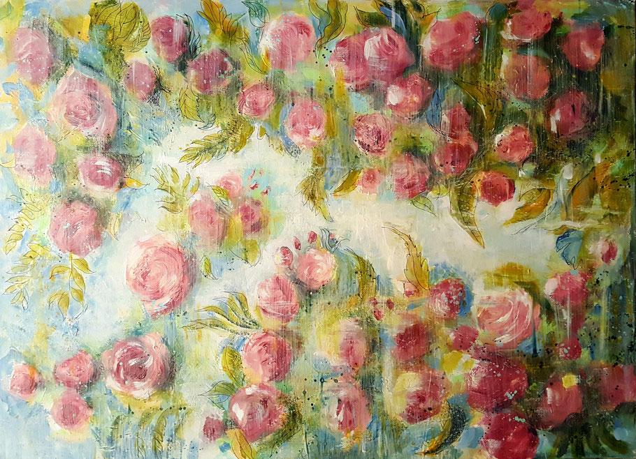 bernadette leclercq art fleurs peinture tableau