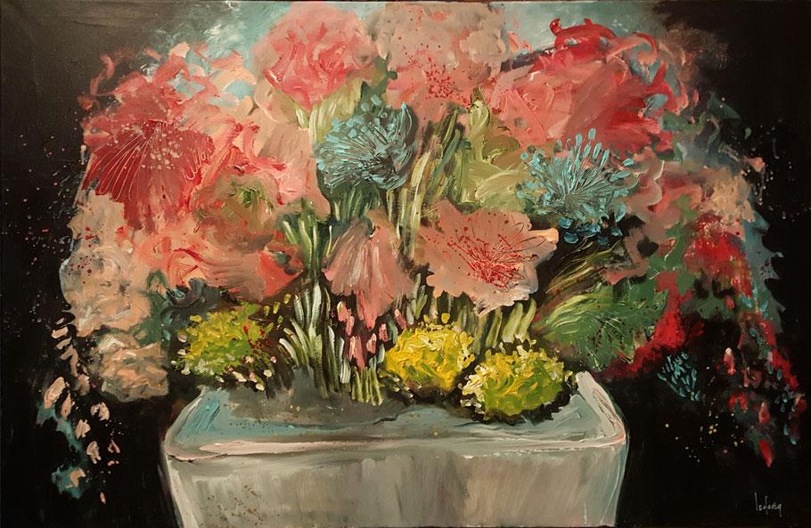 bernadette leclercq fleurs peinture art
