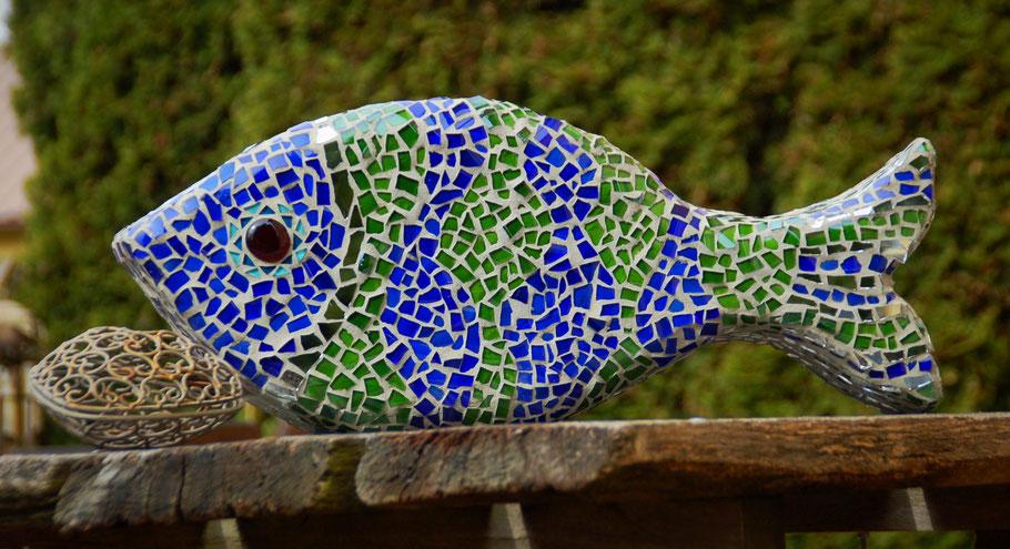 Altglas-Mosaik - Die kleine Perlenwerkstatt