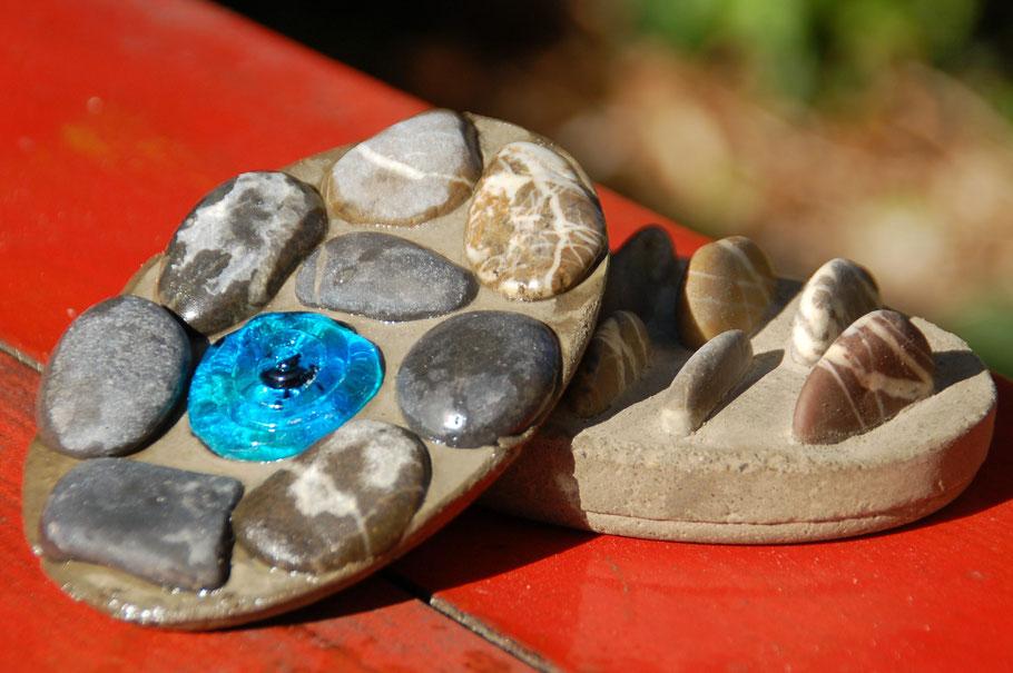 Seifenschalen aus Beton www.Die-kleine-Perlenwerkstatt.de