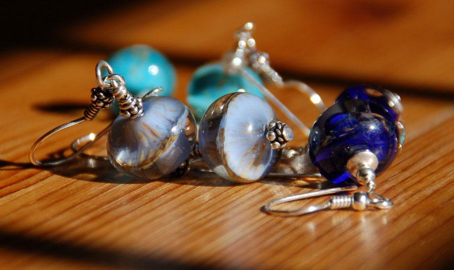 Ohrringe aus Muranoglas, handgefertigt