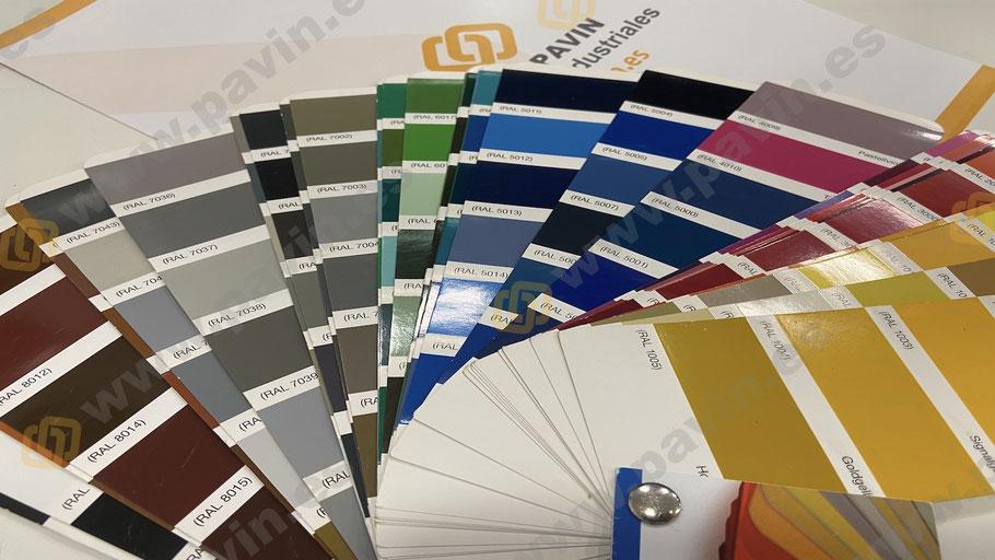 Carta de colors per a paviments industrials