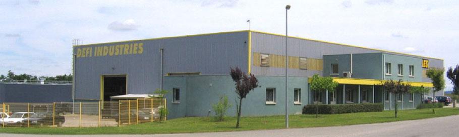 Les ateliers de l'entreprise de chaudronnerie DEFI INDUSTRIES à ESTILLAC, à proximité d'AGEN en Lot-et-Garonne