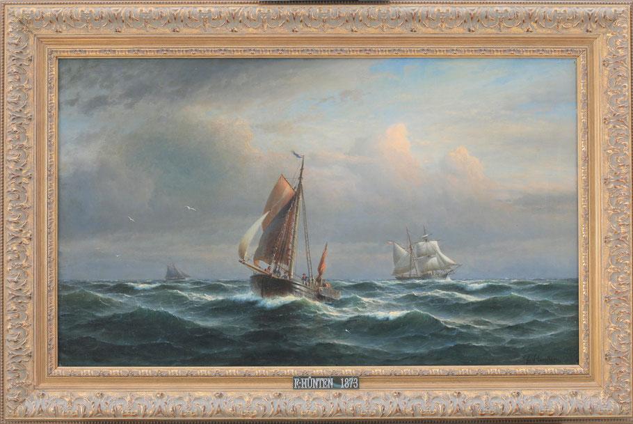 te_koop_aangeboden_een_marine_kunstwerk_van_de_duitse_kunstschilder_franz_johann_wilhelm_hunten_1822-1887
