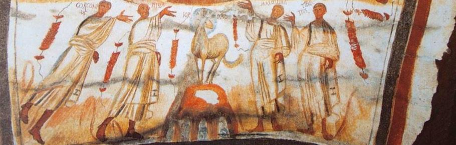 Fresko Katakombe Marcellinus et Petrus in Rom