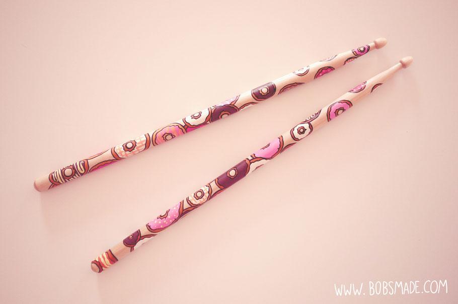 Custom Drumsticks painted by Bobsmade