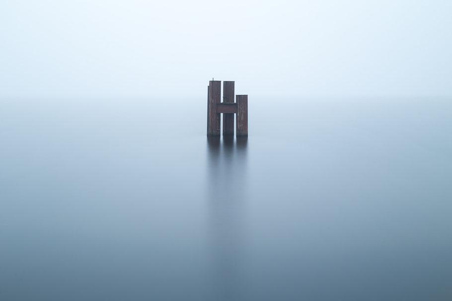 Müggelsee, Nebel, misty, photography, Minimalismus, Fotografie, minimalism, minimalist, minimalistisch, Holger Nimtz, Wandbild, Kunst, fine art,