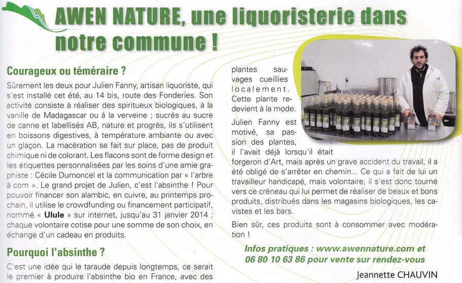 Bulletin d'information Municipales de Chevaigné Janvier 2014