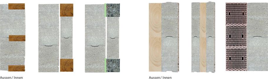 Anwendung der Hanfsteine als Außenwand