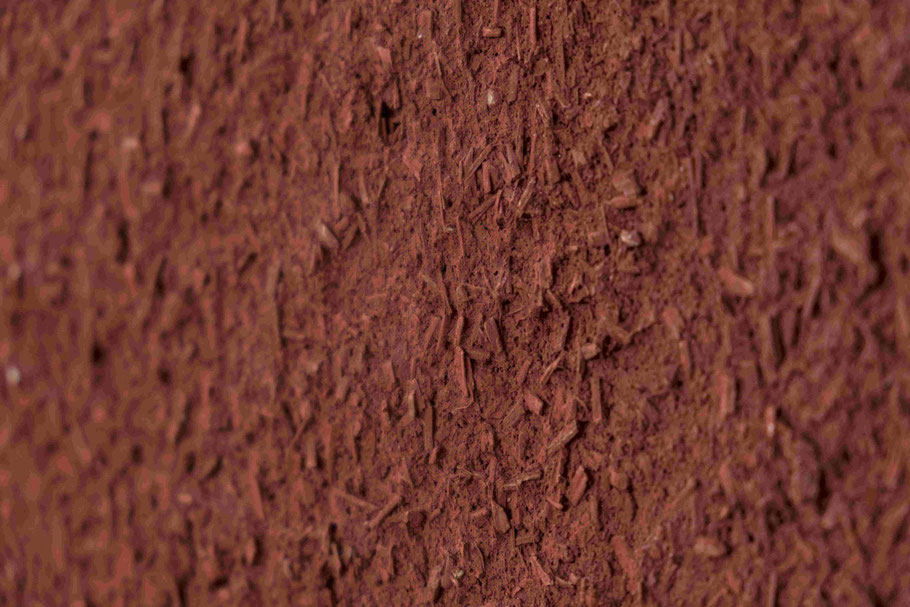 Finitura calce canapa colorata rosso (ossido ferro)